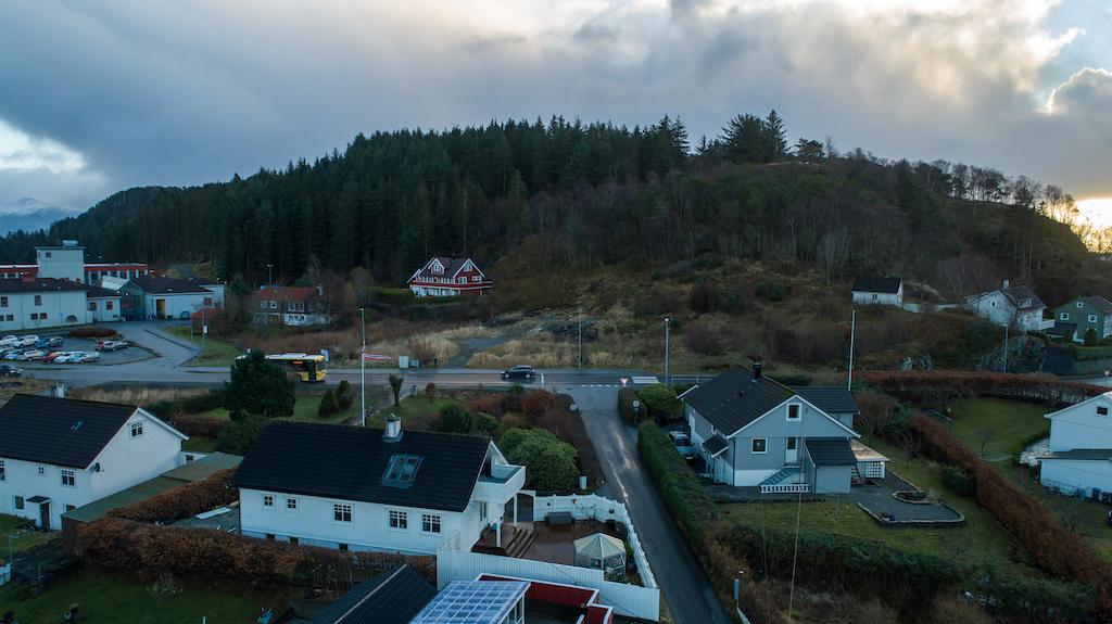 Notøbakken Florø - Vestlandet Utvikling. Tomteområdet sett fra nord