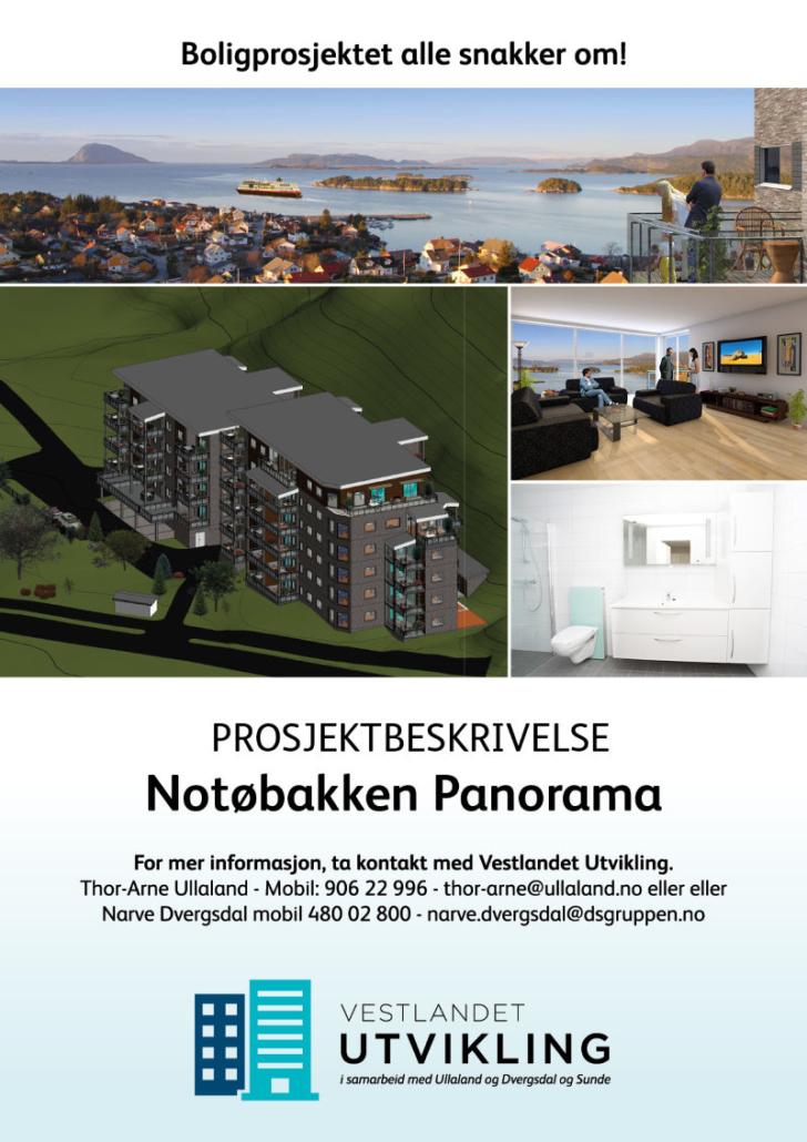 Prosjektbeskrivelse Notøbakken Panorama. Vestlandet Utvikling.