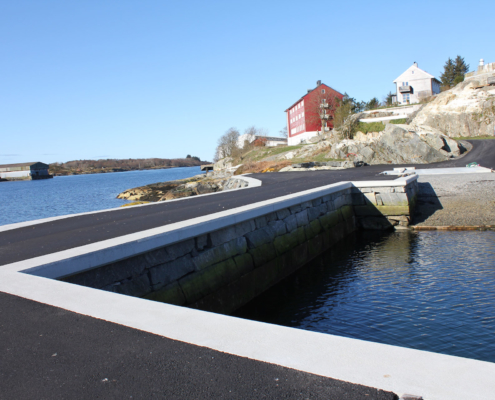 Kaianlegg Gunhildvågen - T. Ullaland AS www.ullaland.no